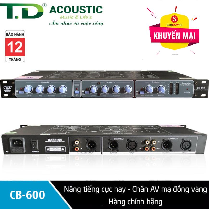 (TOP BÁN CHẠY) Thiết Bị Máy Nâng Tiếng Dành, Vang Cơ Cho Dàn Karaoke Chuyên Nghiệp, Gia Đình - Nâng tiếng TD Acoustic CB600 Pro được nhiều gia đình và người chơi âm thanh lựa chọn tin dùng mua sắm