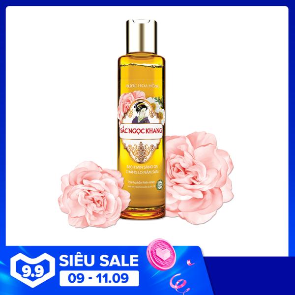Nước hoa hồng Sắc Ngọc Khang sạch mịn sáng da với thành phần 5 loại hoa 145ml, giúp tăng cường tác dụng của kem dưỡng, phòng ngừa nám sạm, sáng mịn làn da nhập khẩu