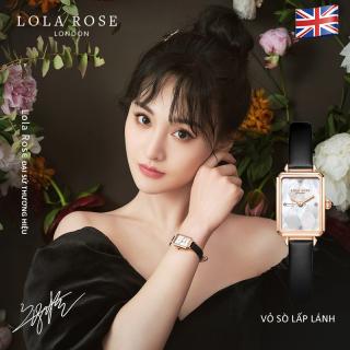 Đồng hồ nữ chính hãng, đồng hồ Lolarose thiết kế từ Anh mặt vuông làm vỏ ngọc trai cao cấp, dây da bò Italy thấm hút tốt phù hợp cô nàng thanh lịch bảo hành 2 năm LR2182 thumbnail