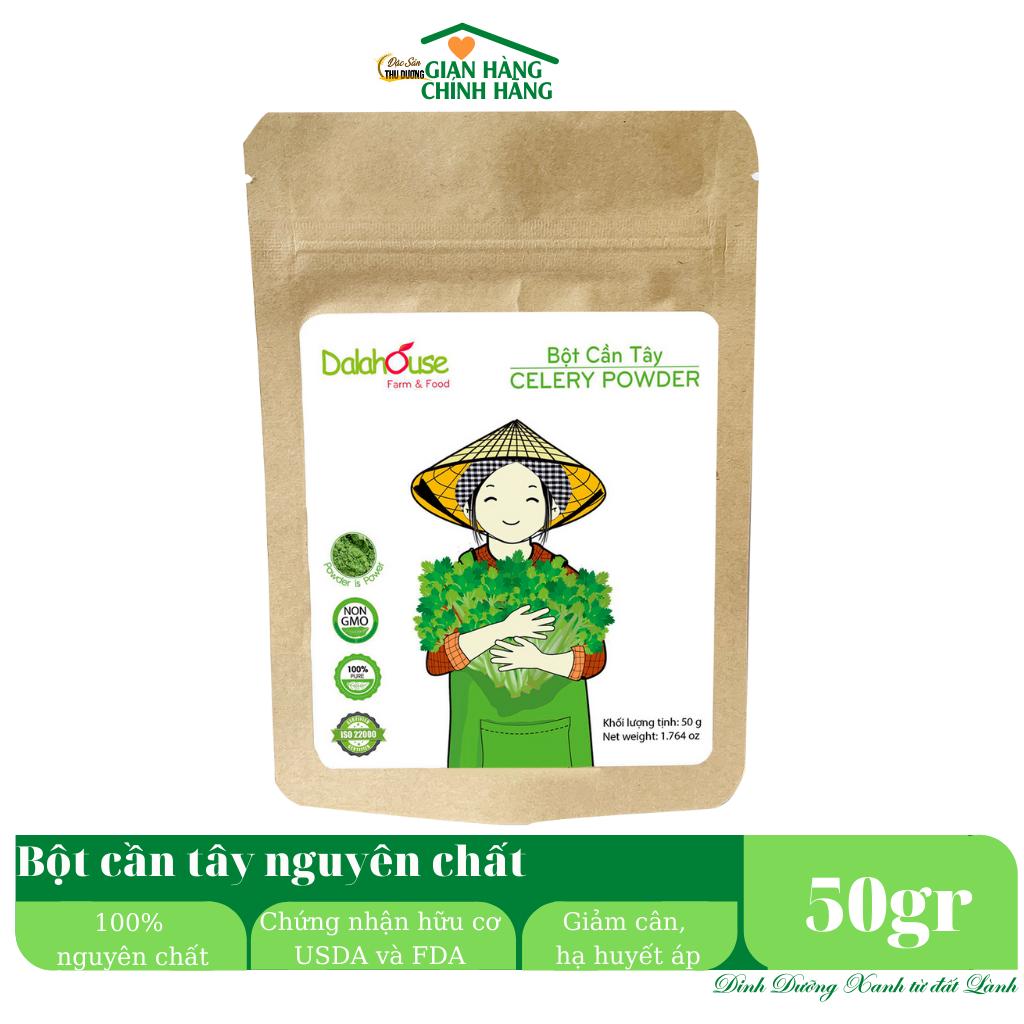Bột cần tây organic nguyên chất Dalahouse - Giảm cân giải độc, hạ huyết áp, đào thải độc tố, thanh lọc cơ thể