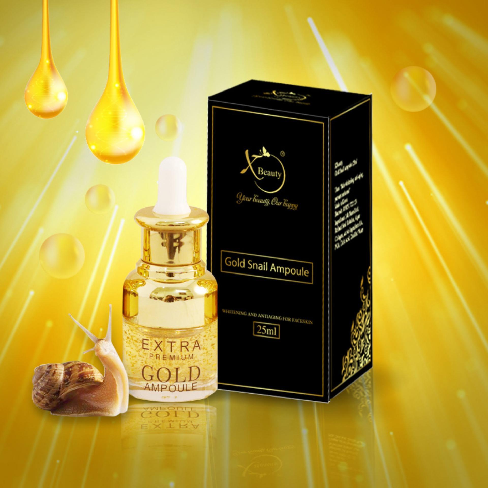 Serum Ốc Sên XBeauty Gold Snail Ampoule 25ml Hàn Quốc - Serum Ốc Sên Gold Perfect skin care chăm sóc da hoàn hảo XBeauty Gold Snail Ampoule 25ml