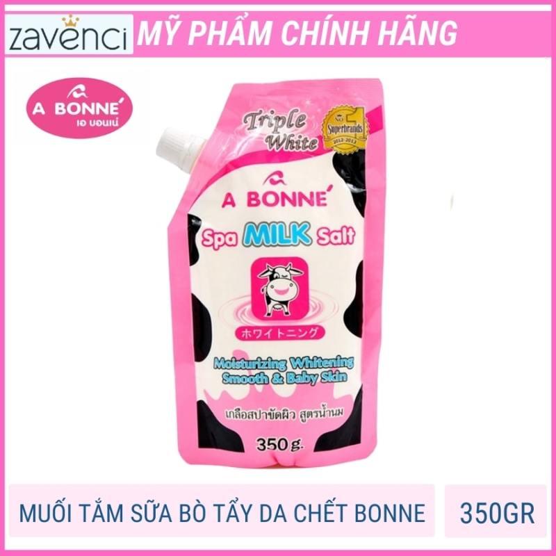 Muối tắm sữa bò tẩy tế bào chết A Bonne ngăn ngừa tình trạng mụn lưng, viêm nang lông 350gram