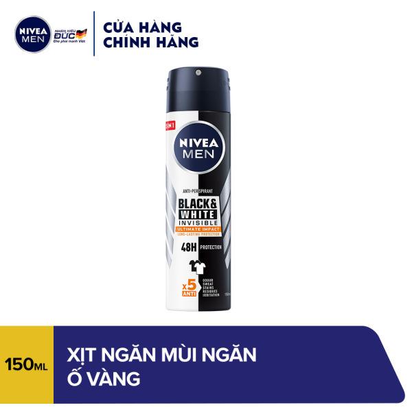 Xịt ngăn mùi Nivea Men ngăn ố vàng vượt trội 150ml - 85388