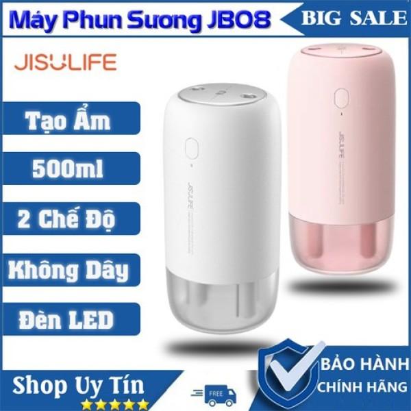 Máy phun sương Jisulife JB08 Máy phun sương Tạo ẩm không khí và giữ ẩm da 500ml Máy phun sương Hai chế độ phun đơn kép Máy tạo ẩm không gian thư giãn Máy phun sương kiêm đèn ngủ LED để bàn tiện lợi,  Máy phun sương tích 10h
