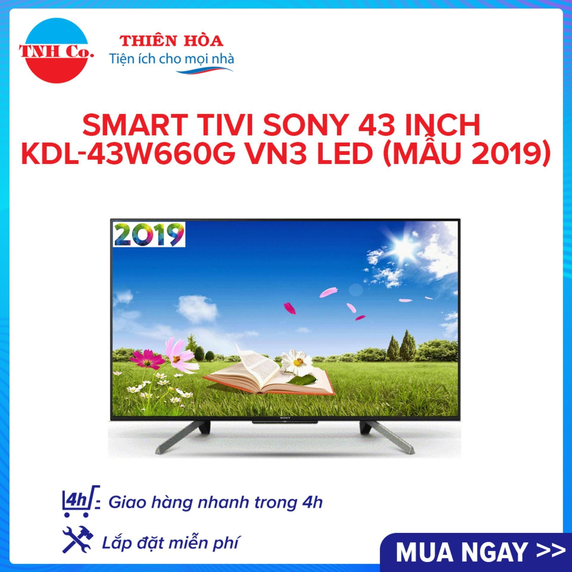 Bảng giá Smart Tivi Sony 43 Inch KDL-43W660G VN3 LED (Mẫu 2019)