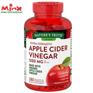 Viên uống Giấm Táo Hữu Cơ Nature s Truth Apple Cider Vinegar 1200mg 180 viên - Hỗ trợ giảm cân - MINX Store thumbnail