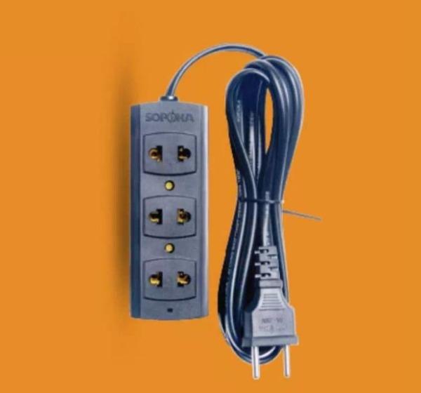 Ổ cắm chống cháy Sopoka loại chịu tải cao 1200W dây dài 4,5m/ Dây và ổ cắm chống cháy, chịu tải cao/ Ổ cắm 3S5 Sopoka giá rẻ