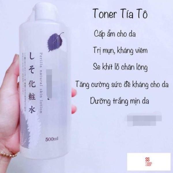 Nước hoa hồng Toner Tía Tô mụn 500ml - lotion tía tô giá rẻ