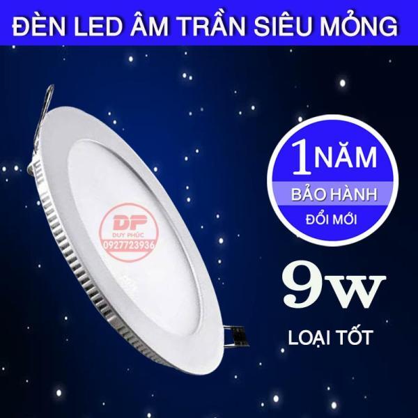 ĐÈN LED ÂM TRẦN SIÊU MỎNG 9W  - LOẠI TỐT TIẾT KIỆM ĐIỆN ÁNH SÁNG DỄ CHỊU. Tiết kiệm điện, giảm hao phí điện năng Ánh sáng dễ chịu, không gây hại cho mắt