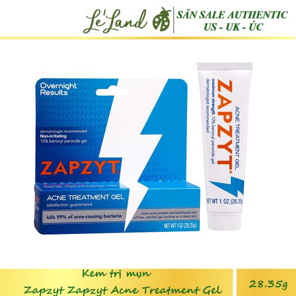 Bill US - Kem Mụn Zapzyt với công thức chứa 10% Benzoyl Peroxide - Zapzyt 10% Benzoyl Peroxide Gel giá rẻ