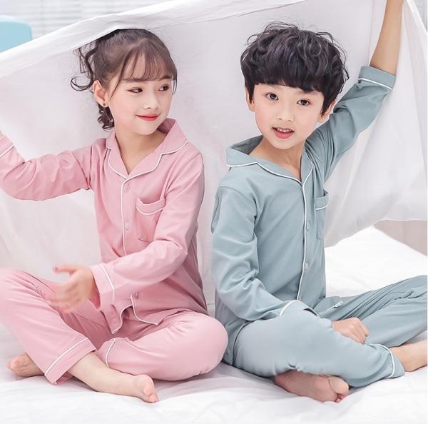 Giá bán [ SALE TẾT ]đồ bộ pijama cho bé trai và bé gái vải kate lụa không bóng 0193