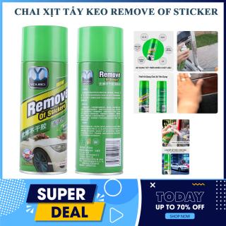 Chai tẩy vết bẩn - Chai Xịt Tẩy Keo Remove Of Stickers 450ml, Làm sạch loại bỏ keo nhãn dán nhanh chóng 450ml - làm sạch ô tô-Bình xịt nội thất oto thumbnail