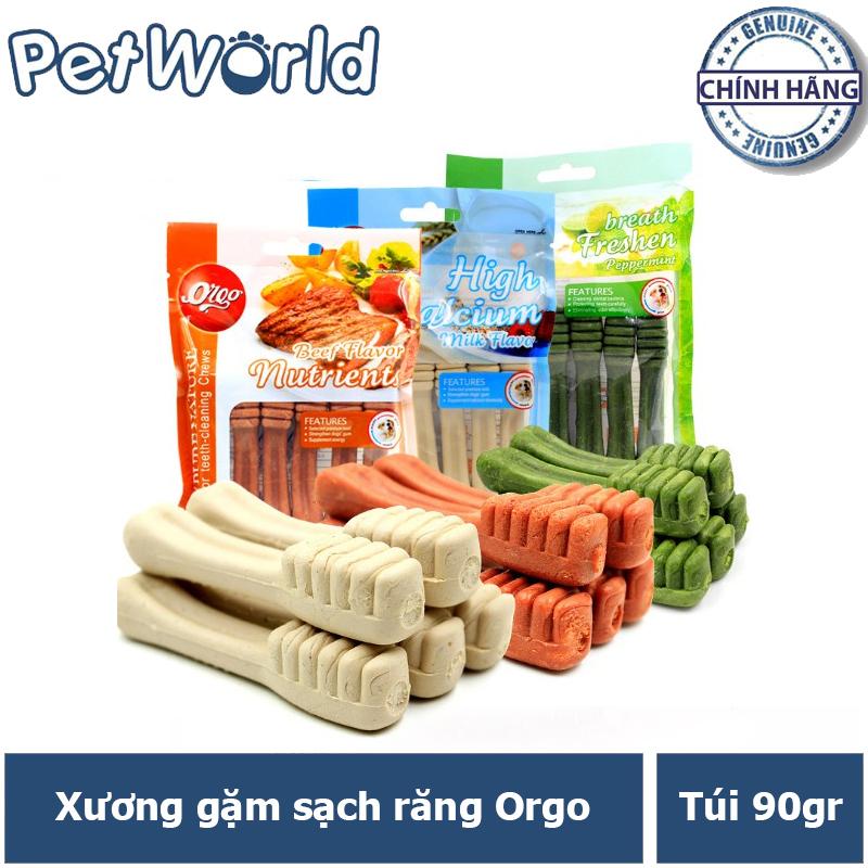 Xương Gặm Sạch Răng Orgo - Bánh Thưởng Cho Chó - Gói 90gr 5 Chiếc