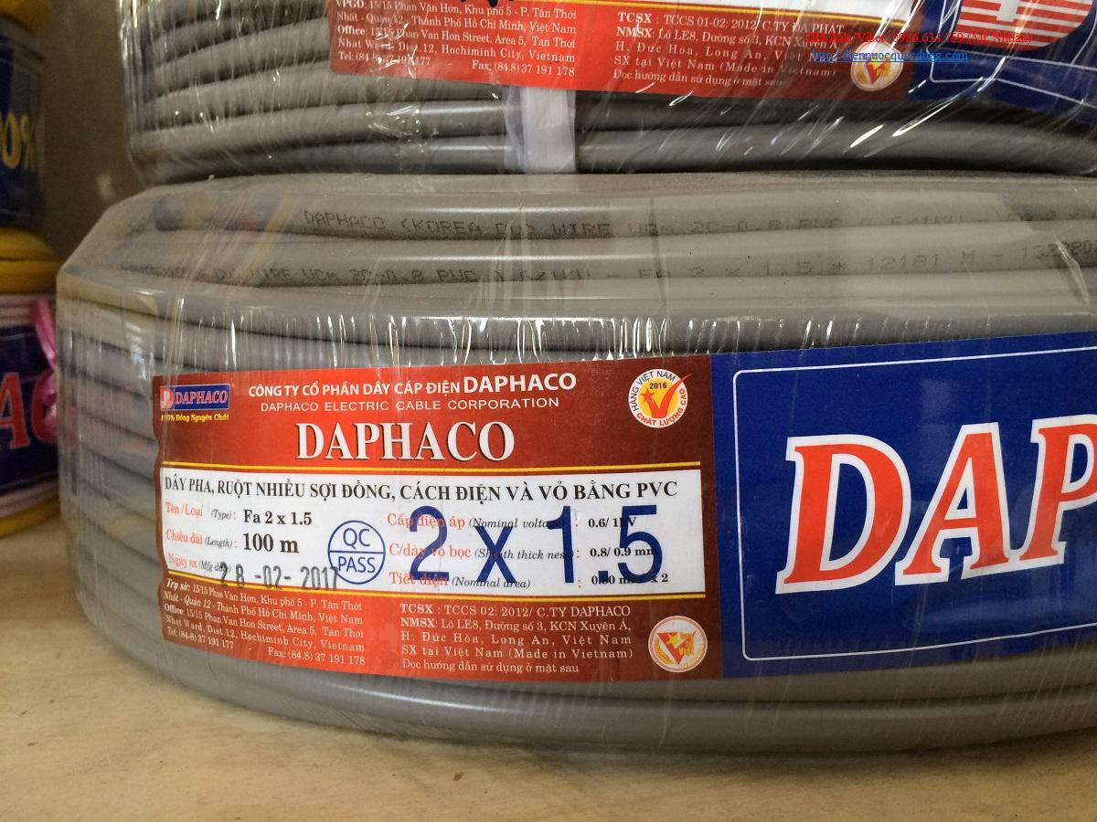 dây điện daphaco FA 2x1.5 cuộn 100 m