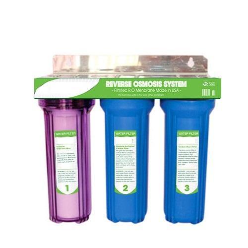 Giá Bộ lọc nước sinh hoạt, bộ lọc thô 3 cấp ly 10inch 1 trong 2 xanh phukienlocnuoc