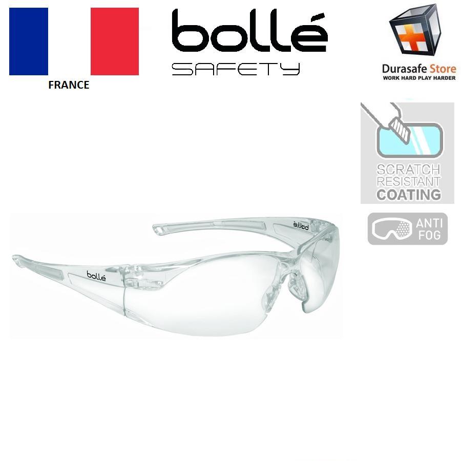 Kính Bolle 1652301A Rush màu trong suốt lớp phủ 2 mặt HD, chống đọng sương, chống trầy, chống tia UV (tặng hộp đựng)
