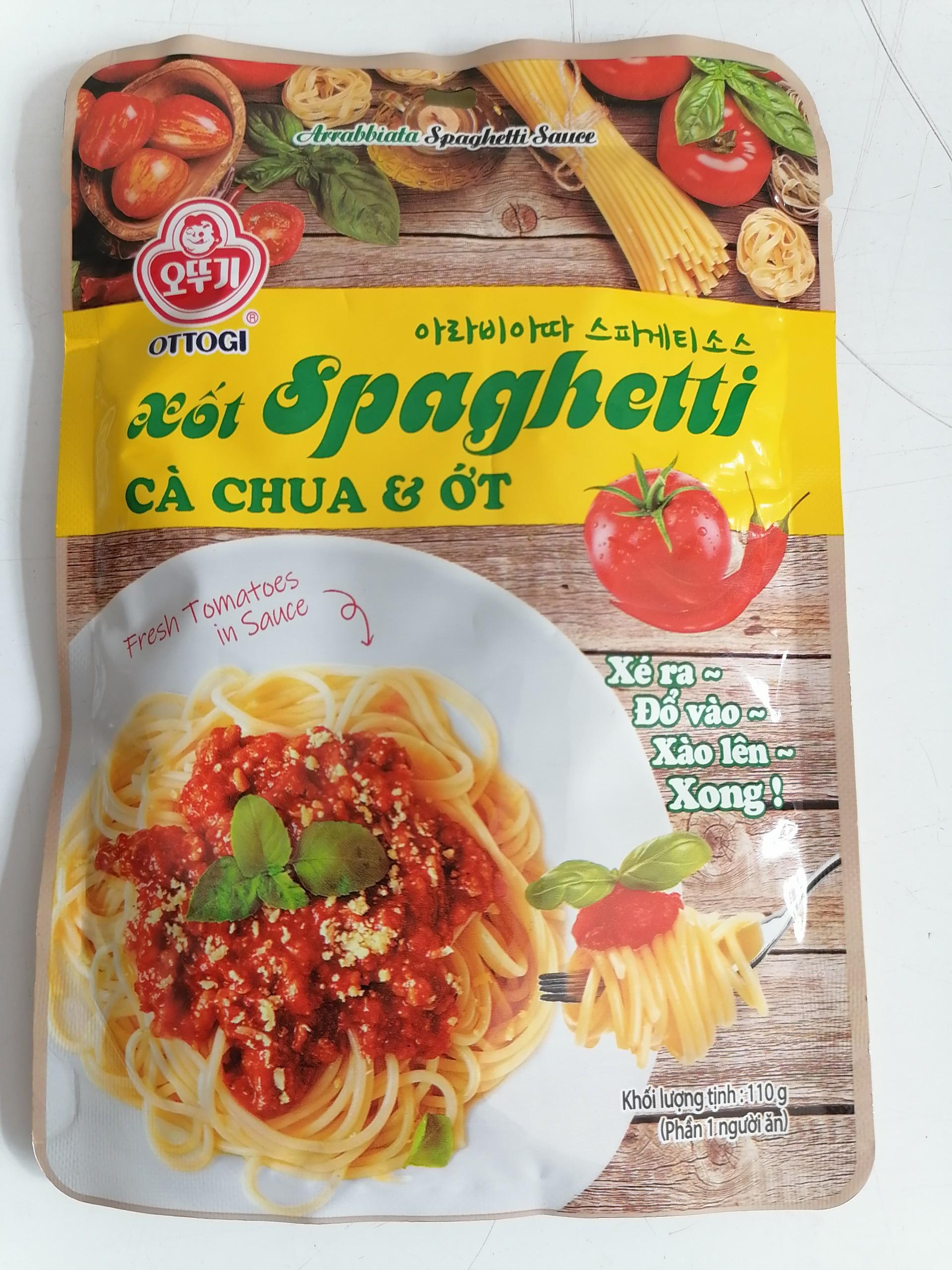 Xốt mì Ý cà chua & ớt OTTOGI Arrabbiata Spaghetti Sauce 110g