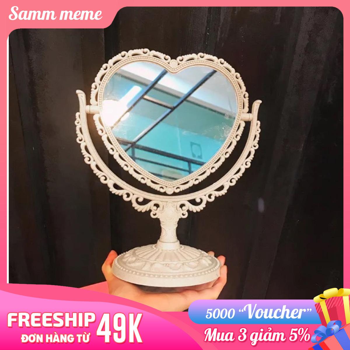 Mã Khuyến Mãi Gương để Bàn Trang điểm - Gương Trang điểm Mini - Gương Soi Trang điểm Cute