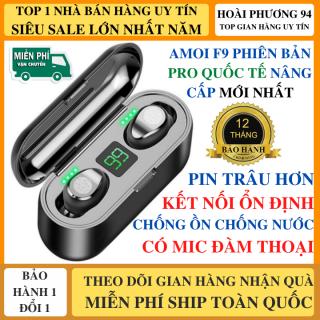 Tai Nghe Bluetooth AMOI F9 Phiên Bản Pro Quốc Tế Pin Trâu 2000 mAh - Tai Nghe Bluetooth Mini - Tai Nghe Bluetooth Không Dây Hay Hơn i7s, i9s, i11, i12, Tai nghe buetooth, tai nghe nhét tai không dây thumbnail