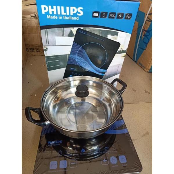 Bếp từ đơn cảm ứng Philips PL-T01 Công suất 2000W tặng nồi lẩu bảo hành 06 tháng