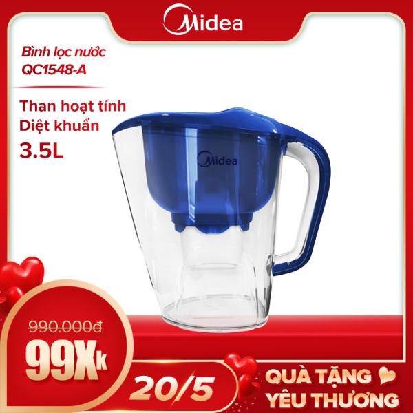Bảng giá Ca Lọc Nước Midea QC1548-A (3.5 lít, tiện dụng, không sử dụng điện) - Hàng Phân Phối Chính hãng Điện máy Pico