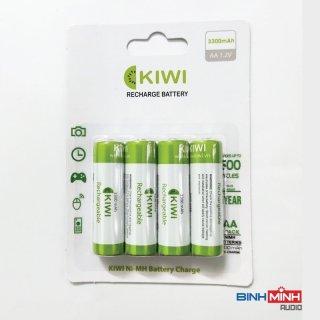 Pin sạc Kiwi AA Ni-MH 3300mAh vỉ 4 viên- Hàng chính hãng chuyên dùng micro, máy ảnh,... thumbnail