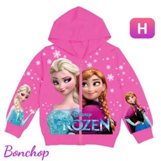 Áo khoác bé gái hình Elsa và Anna xinh xắn từ 9-43kg - Thun da cá hút mồ hôi-in 3D sắc sảo-Hương Nhiên thumbnail