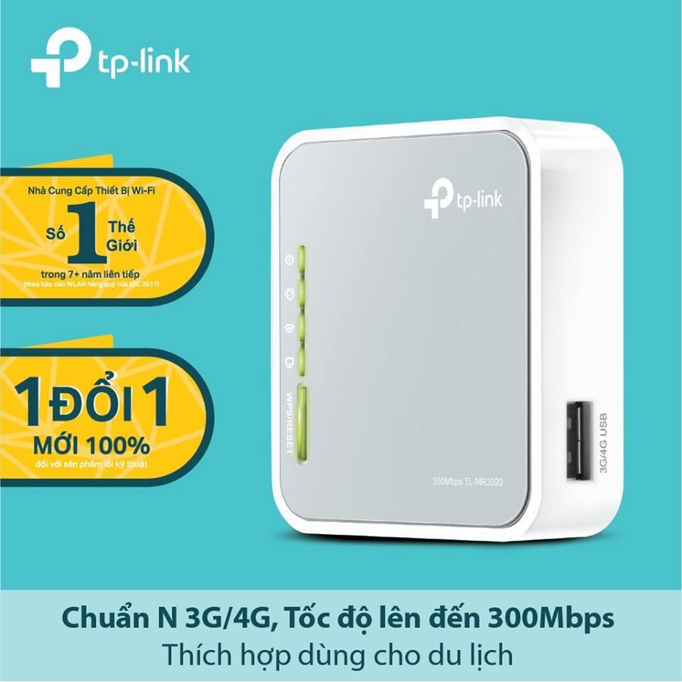 Giá Bộ phát Wi-Fi di động từ USB 3G. Model: TL-MR3020