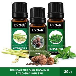 Combo 3 Tinh Dầu Nomad Hoa Oải Hương (10ml) + Vỏ Chanh (10ml) + Sả Tươi (10ml) thumbnail