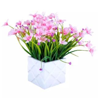 Hoa thủy tiên siêu xinh HTT-35 (1 cành 24-28 bông hoa) - Hoa giả- hoa lụa cao cấp - Hoa để bàn - Hoa để văn phòng thumbnail