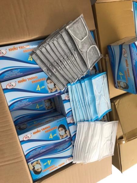 Hộp 50 cái khẩu trang y tế kháng khuẩn 4 lớp Nam Anh Famapro