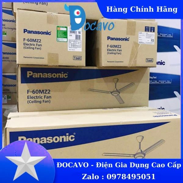 [Mã 159ELSALE hoàn 7% đơn 300K] Quạt trần Panasonic F-60MZ2, hộp số 5 cấp, loại 3 cánh, hàng nhập khẩu