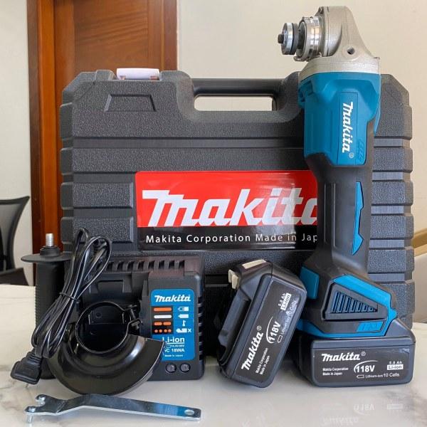 Máy mài pin Makita 118V 6Ah - 2 pin 20000mAh - Động cơ không than, 100% dây đồng - Máy cắt dùng pin Makita 118v - Máy mài góc pin 118V