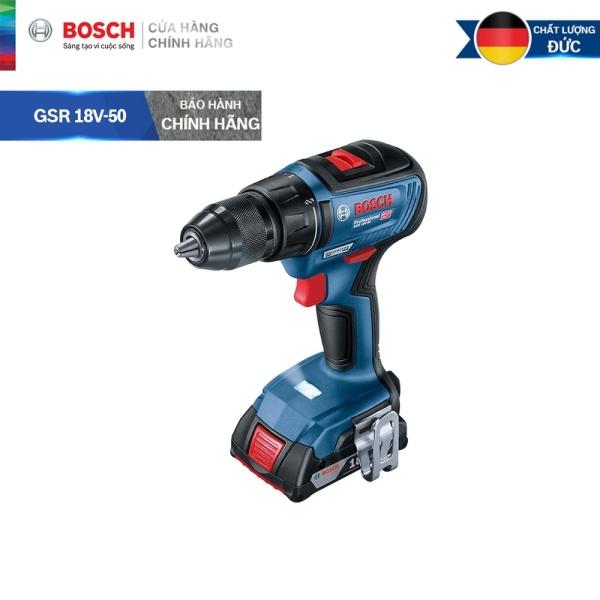 [Trả góp 0%] Máy khoan vặn vít dùng pin Bosch GSR 18V-50