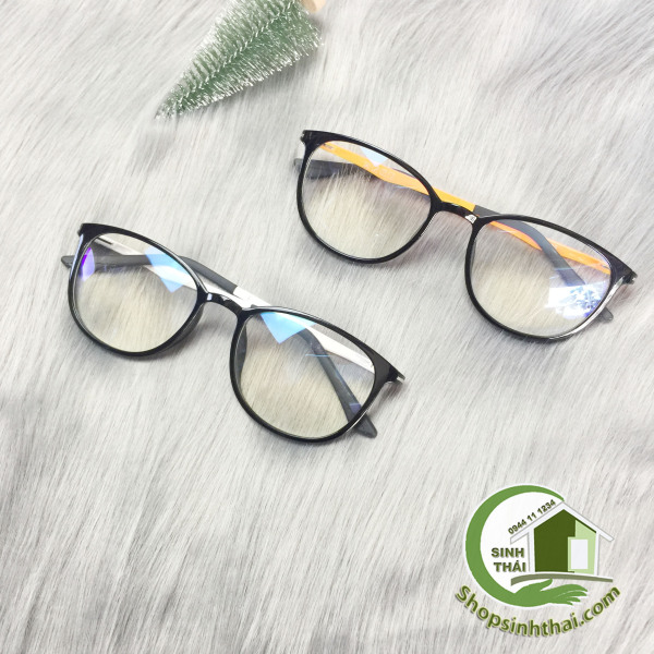 Giá bán Mắt kính gọng nhựa hai màu đen cam và đen trắng cao cấp ( giá sỉ ) - chọn màu