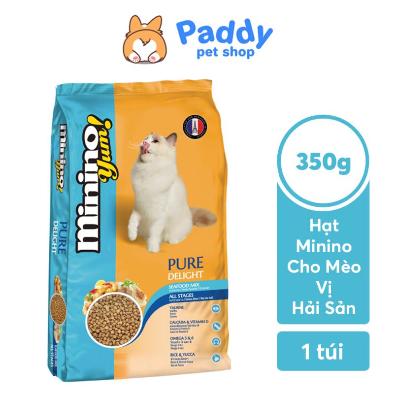 [350g] Hạt Minino Yum Cho Mèo Mọi Lứa Tuổi - Vị Hải Sản