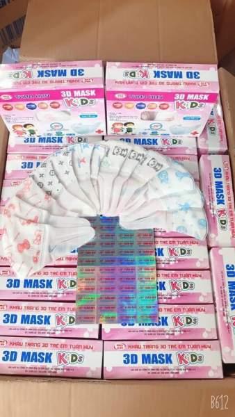 Hộp 50 chiếc khẩu trang 3D mask trẻ em từ 2-7 tuổi giá rẻ