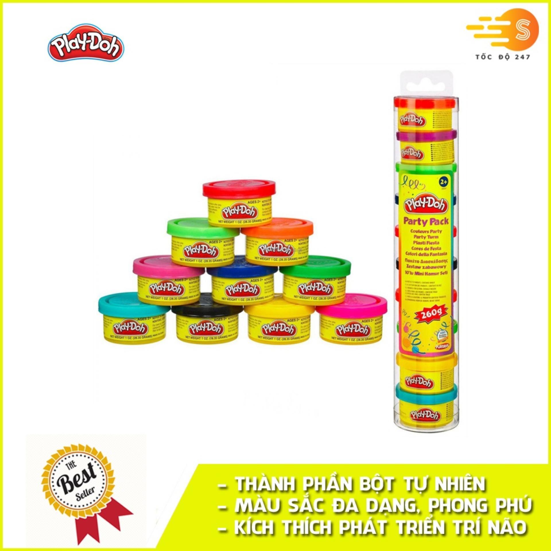 Deal Khuyến Mãi Ống Bột Nặn Tạo Hình 10 Màu Play-Doh 22037