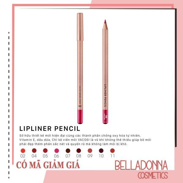 Chì Kẻ Viền Môi Vacosi Lipliner Pencil No.6 Chili Red tốt nhất