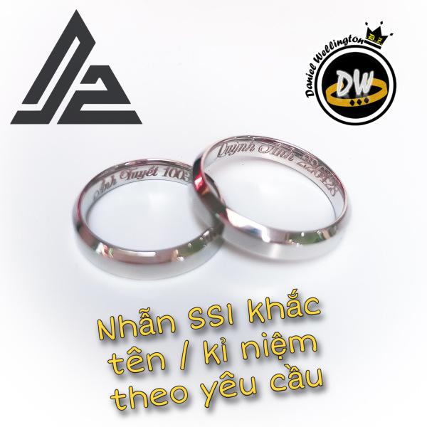[Giá hủy diệt] Nhẫn DW v1 khắc theo yêu cầu - Nhẫn cặp đôi thời trang Titanium thép không gỉ 316L [Bảo Hành 1 năm]