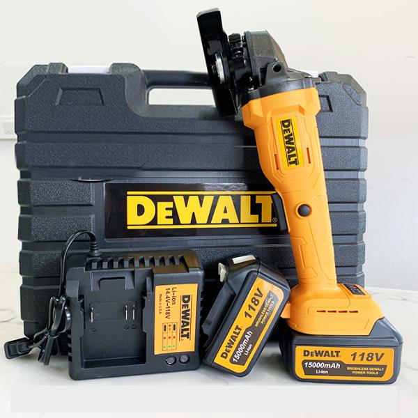 Máy mài pin Dewalt 88v , máy cắt cầm tay , động cơ chổi than , 3 tốc độ mài , lõi đồng 100% , máy cắt 2 pin 10 cell .