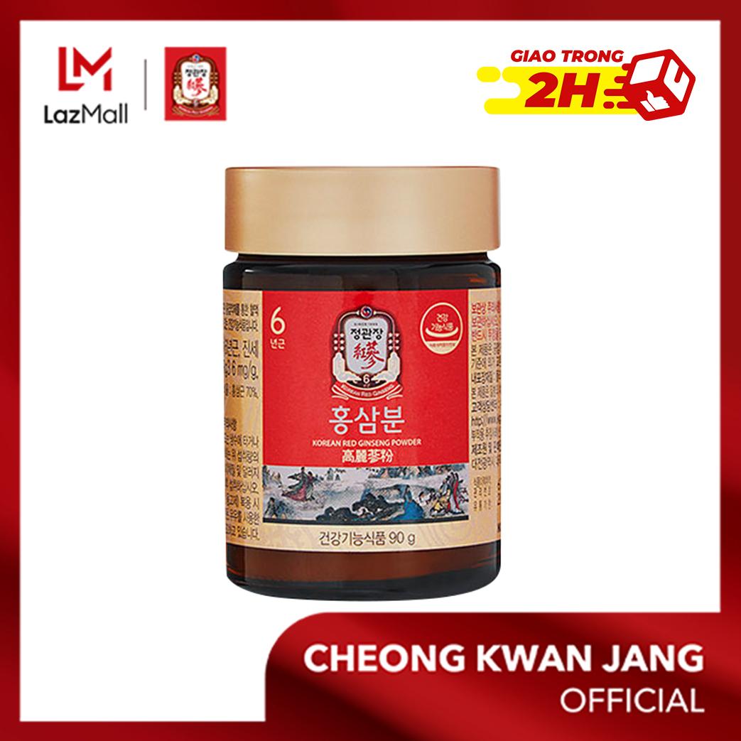 Bột hồng sâm Hàn Quốc KGC Cheong Kwan Jang 90g - Cải thiện sự mất ngủ, nâng cao sự tập trung và năng lực phân tích tư duy, tăng đề kháng, chống oxy hoá