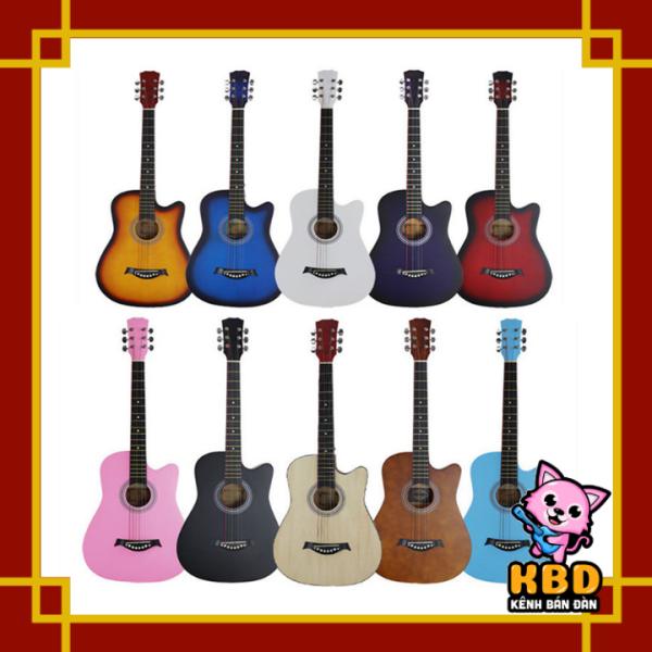 Đàn Guitar Acoustic cao cấp Gỗ Dáng Khuyết Full Màu KBD Tặng kèm Full phụ kiện