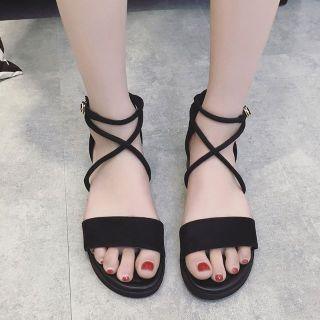 [HCM]Giày sandal nữ đi học quai hậu nhiều màu cực bền đẹp chắc chắn dùng cho mùa mưa hoặc mùa hè đều được đi học hoặc đi chơi mang đều đẹp - SM06 thumbnail