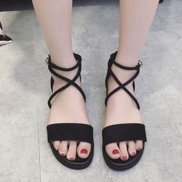 Giày sandal nữ đi học quai hậu nhiều màu, cực bền, đẹp, chắc chắn, dùng cho mùa mưa hoặc mùa hè đều được, đi học hoặc đi chơi mang đều đẹp - SM06 giá rẻ