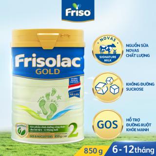 Mẫu mới] Sữa Bột Frisolac Gold 2 lon thiếc 850G - cho trẻ từ 6-12 tháng tuổi  | Sữa cho bé dưới 24 tháng | ConCungShop.Com