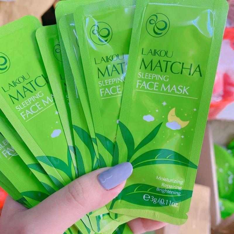 Mặt Nạ Ngủ Trà Xanh Matcha Mud Mask Laikou nhập khẩu