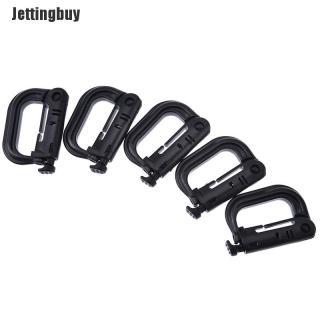 Jettingbuy XIATIAN 5 Cái Molle Carabiner D Khóa Vòng Nhựa Clip Vòng Khóa Carabiner Keychain thumbnail