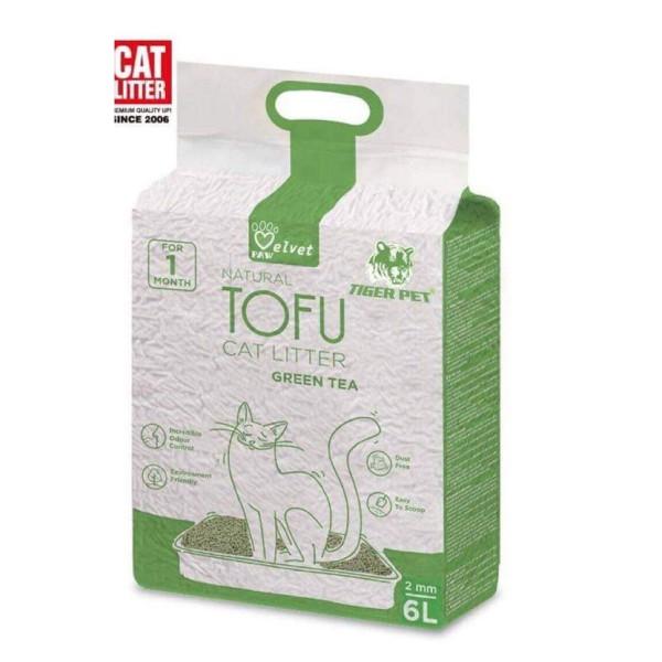 Cát Vệ Sinh Cát Đậu Phụ Tofu Cat Litter Tiger Pet Velvet Túi 6 Lít