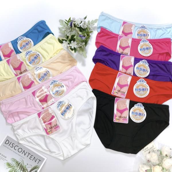 Combo 10 quần lót nữ cotton trơn đủ màu, thấm hút mồ hôi, co dãn thoải mái, đủ size lớn nhỏ